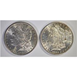 1883-O & 1890 CH BU MORGAN DOLLARS