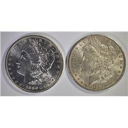 1884-O & 1886 CH BU MORGAN DOLLARS