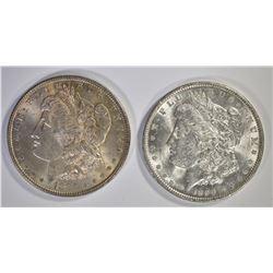 1885 & 1890 CH BU MORGAN DOLLARS