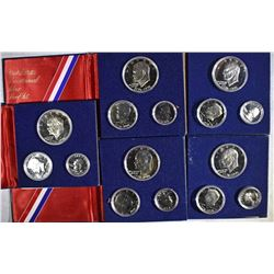5-1976 PROOF 3-PIECE 40% SILVER BICENTENNIAL SETS