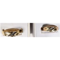 2 - 14k COMFORT FIT GOLD/DIAMOND BANDS
