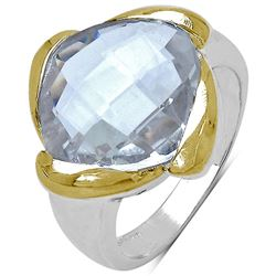 RHODIUM PLATED CRYSTAL (5.7cts) RING