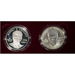 1998 Robert F Kennedy Memorial Silver Dollar Set