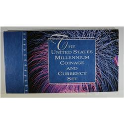 2000 MILLENNIUM COIN & CURRENCY SET ORIG PACKAGING
