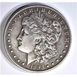 1893-S MORGAN DOLLAR XF, KEY TO THE SERIES