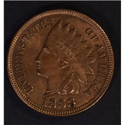 1898 INDIAN CENT CH BU RB LOTS OF RED