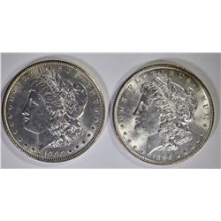 1896 & 1900 MORGAN DOLLAR CH BU