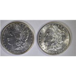 1901-O, & 02-O MORGAN DOLLARS CH BU