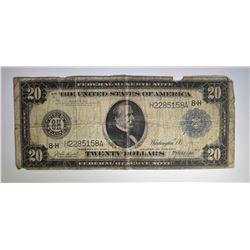 1914 $20.00 FRN, CIRC