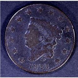 1823/2 LARGE CENT, VG KEY DATE