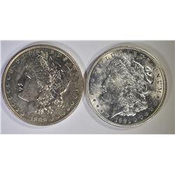 1898 CH BU & 1921-D AU/BU MORGAN DOLLARS