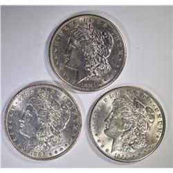 1881-S, 85 & 89 CH BU MORGAN DOLLARS