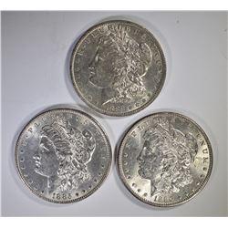 1883-O, 85 & 86 CH BU MORGAN DOLLARS