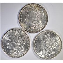 1883-O, 85 & 1900-O-BETTER DATE, CH BU MORGAN DOLL