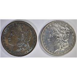 1879 BU & 1881 AU TONED MORGAN DOLLARS