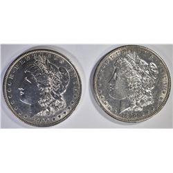 1890-S BU & 1900 AU/BU MORGAN DOLLARS
