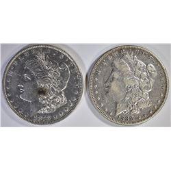 1878 7TF XF & 1888 VF MORGAN DOLLARS