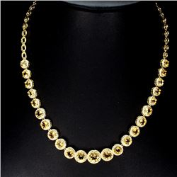 Natural AAA Top Rich Yellow Citrine Necklace