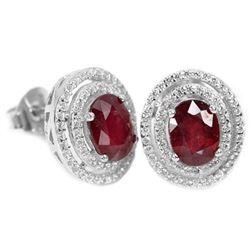 GENUINE BLOOD RED RUBY Earrings