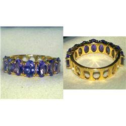 Natural Tanzanite & Solid Gold Ring