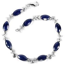Natural Marquise Blue Sapphire Bracelet