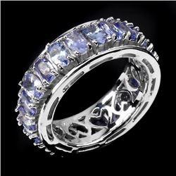 Natural Blue Violet Tanzanite Ring