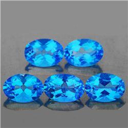 Natural Swiss Blue Topaz 4.53 Cts (Flawless-VVS1)