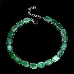 Natural 8x6mm Top Rich Green Emerald Bracelet