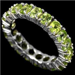 NATURAL AAA GREEN PERIDOT Ring