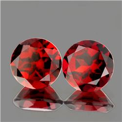 Natural Deep Red Mozambique Garnet Pair 7.00 mm - VVS