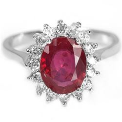 Natural 9X7 MM. OVAL AAA  RED RUBY Ring