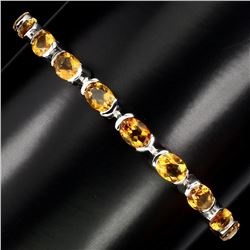 Natural Oval 6x5mm Top Rich Yellow Citrine Bracelet