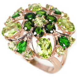 Natural NATURAL GREEN CHROME DIOPSIDE & PERIDOT Ring