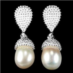 NATURAL WHITE/ CREAMY  PEARL Earrings