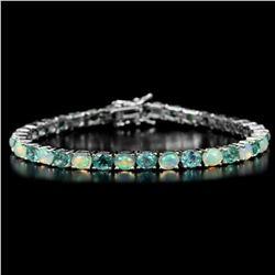 NATURAL AAA RAINBOW OPAL & APATITE Bracelet