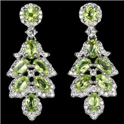 NATURAL AAA GREEN PERIDOT Earrings