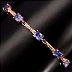 Natural Top Blue Violet Tanzanite Bracelet