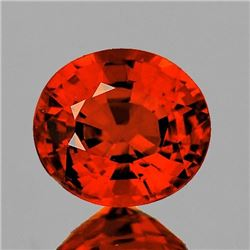 NATURAL ORANGE SPESSARTINE GARNET 6x5.5 MM - FL