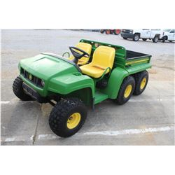 2007 JOHN DEERE GATOR TH 6X4 UTV --VIN/SN:5901 ::GAS, DUMP BED, 535 HOURS