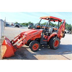 2008 KUBOTA L39 LOADER BACKHOE --VIN/SN:53932 ::4X4, BUCKET, CANOPY, 712 HOURS