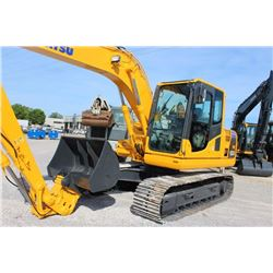 2013 KOMATSU PC130 LC-8 HYDRAULIC EXCAVATOR --VIN/SN:83734 ::9' 10'''' STICK, BUCKET, 60'''' CLEAN O