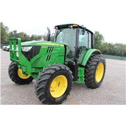 2013 JOHN DEERE 6125M FARM TRACTOR --VIN/SN:769063 ::MFWD, 3 REMOTES, CAB, A/C, 18.4R34 REAR TIRES,