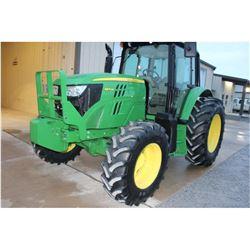 2014 JOHN DEERE 6105M FARM TRACTOR --VIN/SN:789071 ::MFWD, 3 REMOTES, CAB, A/C, 18.4R34 REAR TIRES,