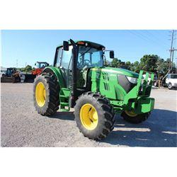 2014 JOHN DEERE 6105M FARM TRACTOR --VIN/SN:789238 ::MFWD, 3 REMOTES, CAB, A/C, 18.4R34 REAR TIRES,