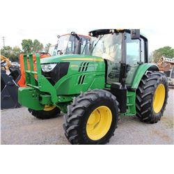 2014 JOHN DEERE 6105M FARM TRACTOR --VIN/SN:789346 ::MFWD, 3 REMOTES, CAB, A/C, 18.4R34 REAR TIRES,