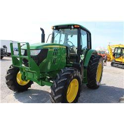 2013 JOHN DEERE 6105M FARM TRACTOR --VIN/SN:778033 ::MFWD, 3 REMOTES, CAB, A/C, 18.4R34 REAR TIRES,