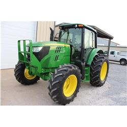 2013 JOHN DEERE 6105M FARM TRACTOR --VIN/SN:778021 ::MFWD, 3 REMOTES, CAB, A/C, 18.4-34 REAR TIRES,