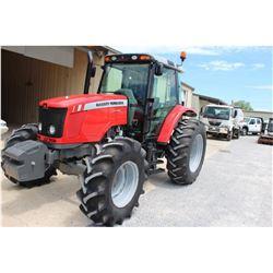 2014 MASSEY FERGUSON 5470 FARM TRACTOR --VIN/SN:D010062 ::MFWD, 3 REMOTES, CAB, A/C, 18.4-34 REAR TI