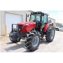 2014 MASSEY FERGUSON 5470 FARM TRACTOR --VIN/SN:D011057 ::MFWD, 3 REMOTES, CAB, A/C, 18.4-34 REAR TI