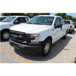 2016 FORD F150 PICKUP TRUCK --VIN/SN:1FTEX1CF5GFB37563 ::EXT. CAB, V8 GAS, A/T, 54,652 MILES